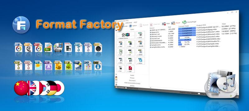 دانلود جدیدترین ورژن نرم افزار Format Factory